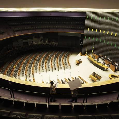 Plenário vazio no Congresso Nacional durante o recesso branco Foto: Jorge William / O Globo/18-7-2013