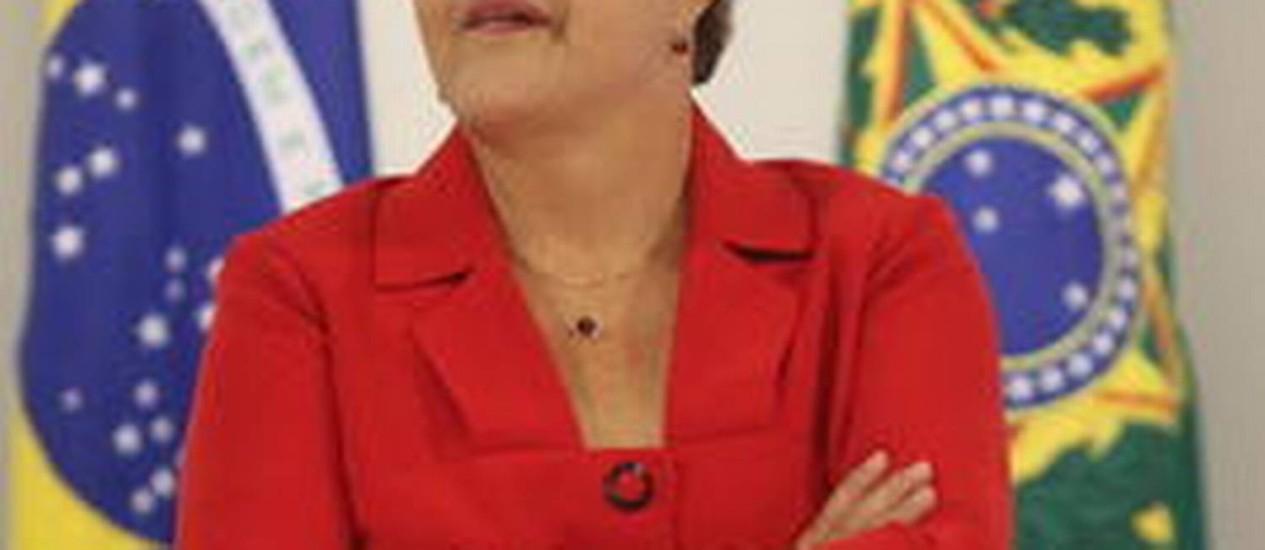 Dilma Foto: O Globo
