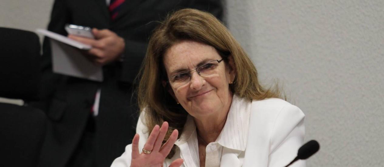 Graça Foster durante depoimento na CPI da Petrobras Foto: Ailton de Freitas / Agência O Globo