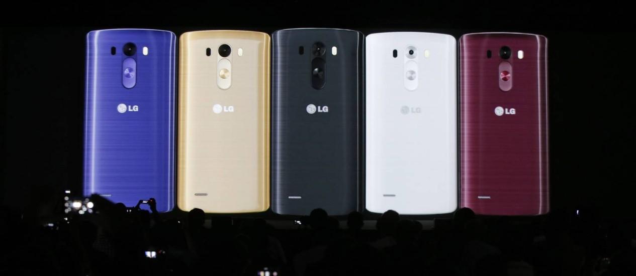 LG lança G3 na Inglaterra, em várias cores. Foto: / Foto AP