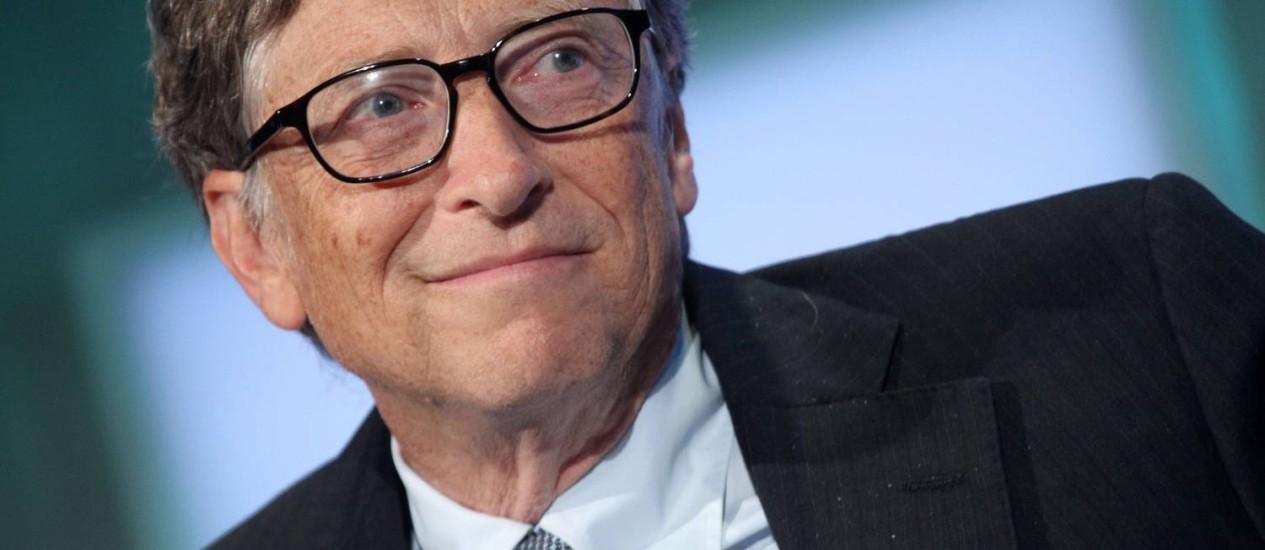 Bill Gates: ritmo menor de doações na fundação. Foto: / AFP