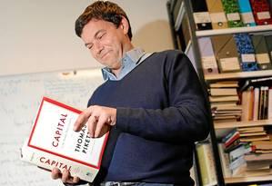 Piketty: 'Concentração do patrimônio progrediu ainda mais do que se pensava, em particular nos EUA' Foto: CHARLES PLATIAU / REUTERS