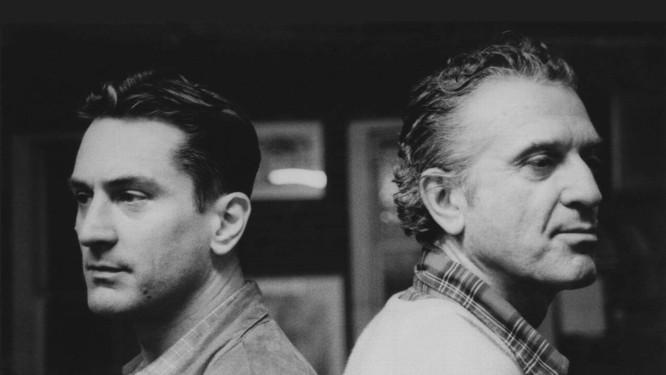 O ator Robert De Niro ao lado do pai, o pintor Robert De Niro Sr. Foto: Reprodução