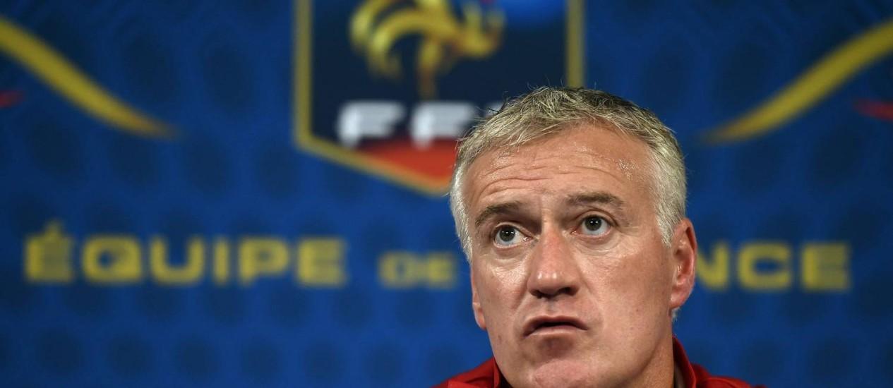 Deschamps disse que a França ainda não está pronta para a Copa, apesar da boa atuação contra a Noruega Foto: Franck Fife / AFP