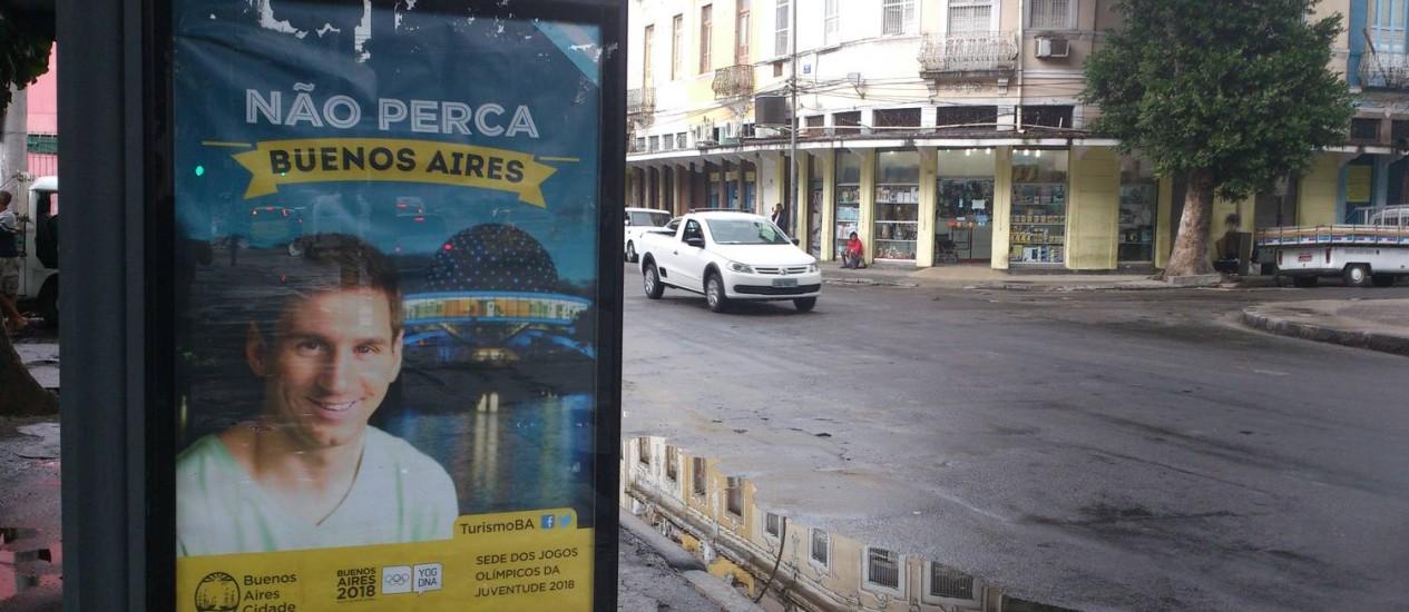 Messi estrela campanha no Rio para aumentar turismo em Buenos Aires Foto: Gabriel Cariello