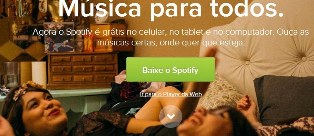 Serviço sueco de streaming de música já pode ser acessado por usuários brasileiros Foto: REPRODUÇÃO