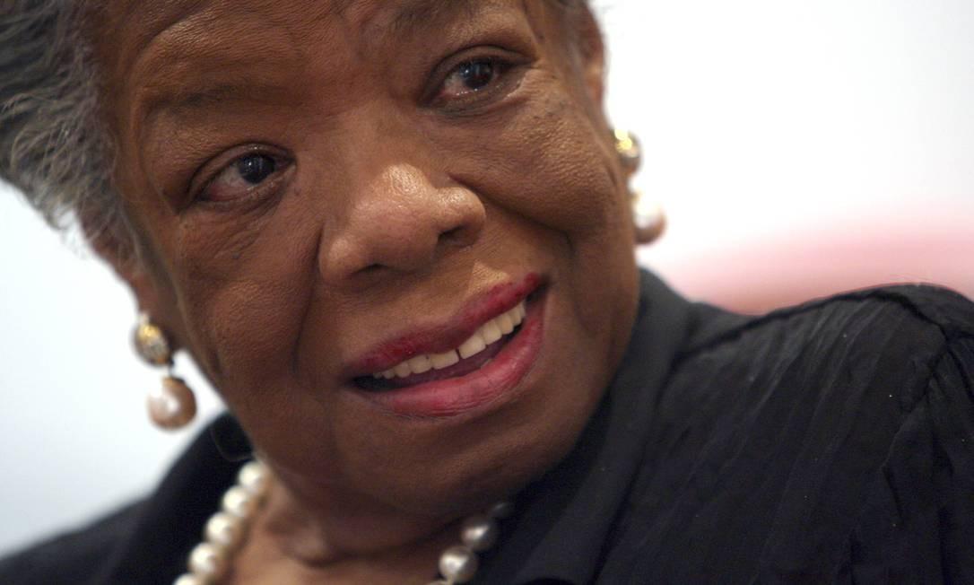 Ícone da luta pelos direitos civis, Angelou morreu nesta quarta-feira Foto: Mary Altaffer / AP