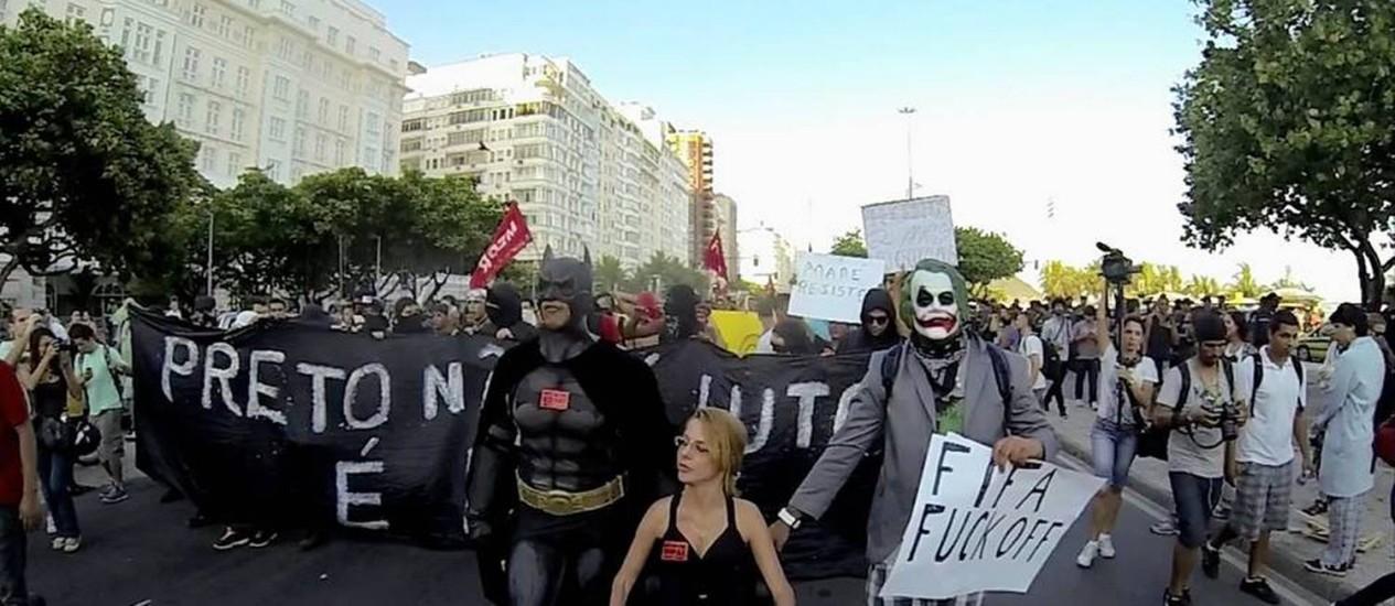 """Cena do filme """"Rio em chamas"""" Foto: Divulgação"""
