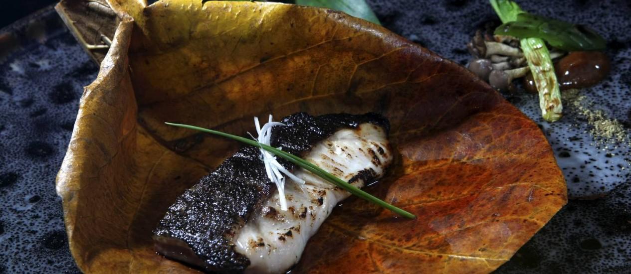 O Black Cod, chamado de bacalhau preto, é uma das novidades do Ten Kai. Foto: Eduardo Naddar