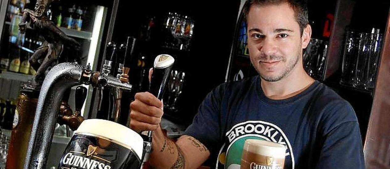 Chope da Guinness: A bebida é um dos destaques da Beer Taste Foto: Eduardo Naddar
