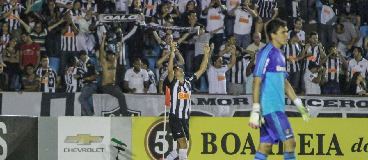 Dátolo comemora o primeiro gol do Atlético-MG, na vitória sobre o Fluminense Foto: Divulgação / Atlético-MG