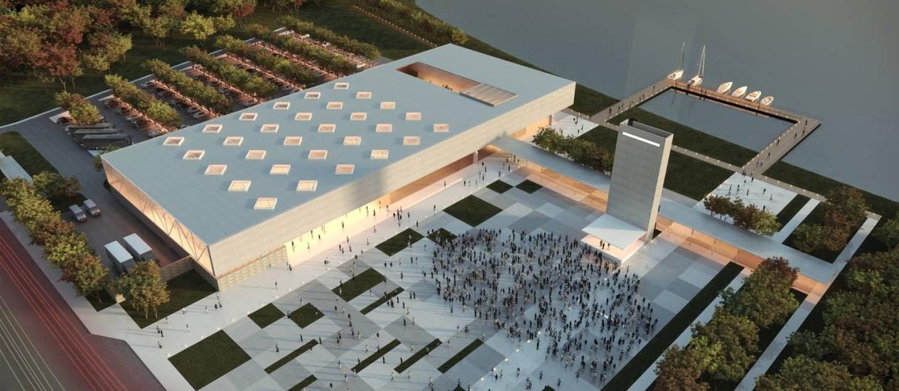 O Centro de Convenções de Cabo Frio ficará às margens da Lagoa de Araruama Foto: Divulgação