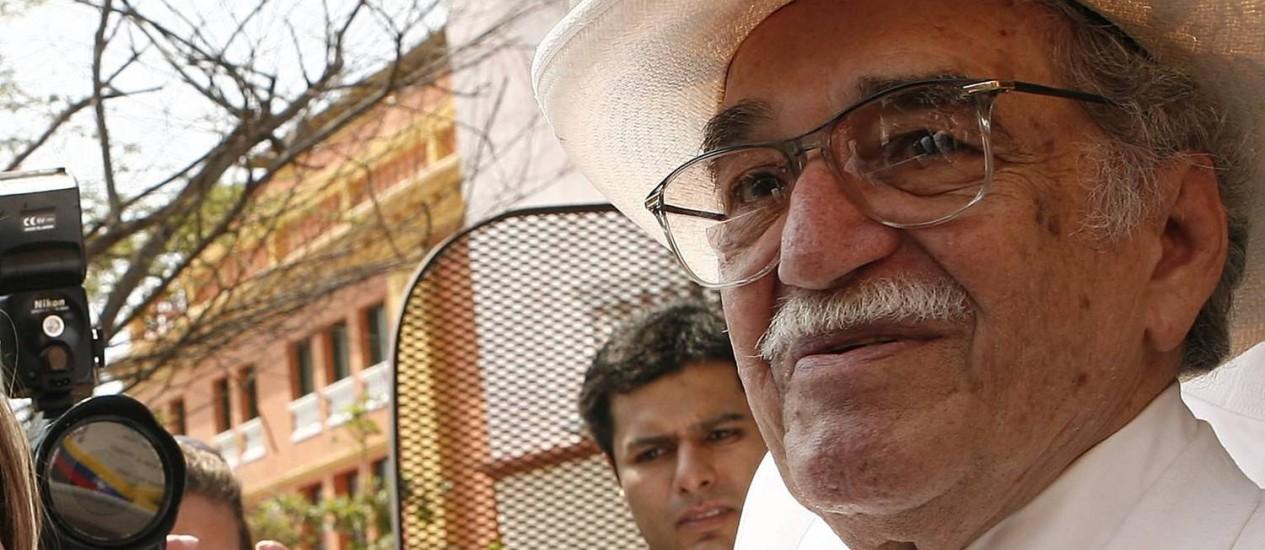 """Obra-prima. O colombiano Gabriel García Marquez, autor de """"Cem anos de solidão"""", em Cartagena das Índias (Colômbia) Foto: EFE/Ballesteros / 26/03/2007"""