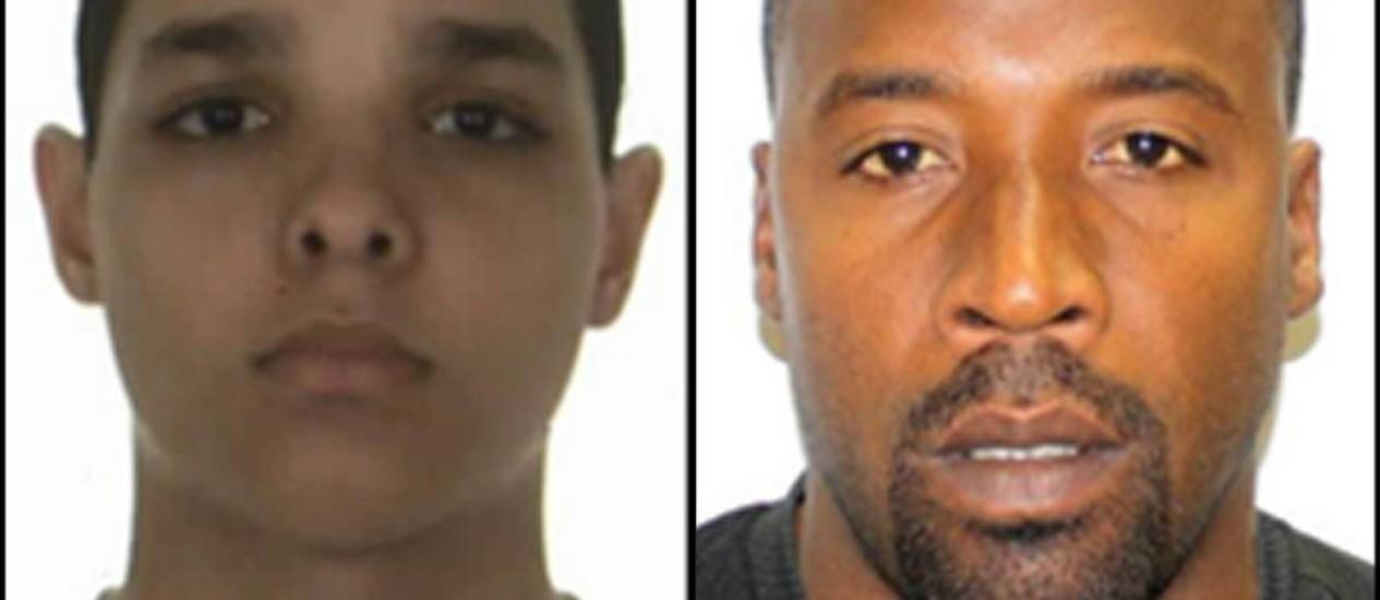 Nathan Benchimol, 23 anos, e Gilson da Conceição Maciel da Costa, 38 anos, teriam roubado pelo menos 2 casas este ano Foto: Divulgação / Divulgação