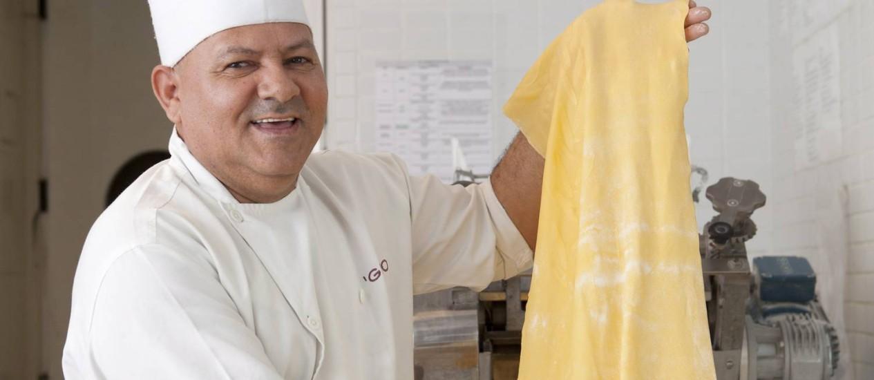Massas frescas. Pedidos são preparados na hora pela cozinha Foto: Agência O Globo / Bárbara Lopes