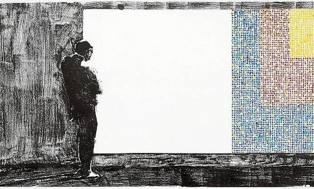 """Desenho de Amador Perez na exposição """"Quantos quadros"""", na Galeria Maria de Lourdes Mendes de Almeida Foto: Divulgação /"""