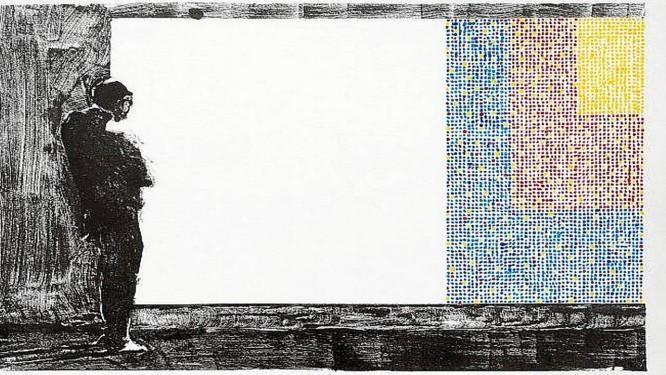 """Desenho de Amador Perez na exposição """"Quantos quadros"""", na Galeria Maria de Lourdes Mendes de Almeida Foto: Divulgação"""