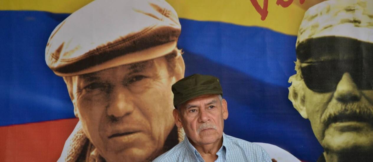 Co-fundador das Farc, Miguel Pascuas, durante diálogos de paz em Havana. Sequestro de menina de dez anos foi atribuído ao grupo, horas após fim da trégua unilateral Foto: ADALBERTO ROQUE / AFP