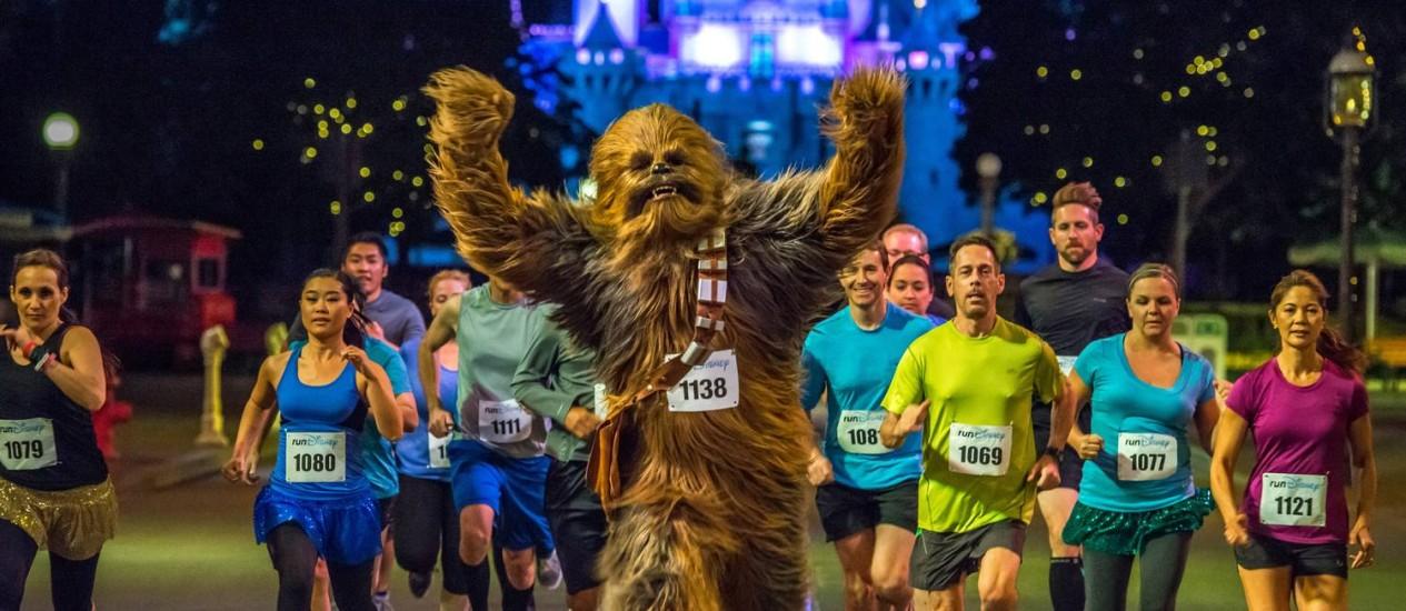 """Corra, Chewbacca, corra: provas com temática de """"Star Wars"""" ocorrem em janeiro Foto: Ali Nasser / Divulgação"""