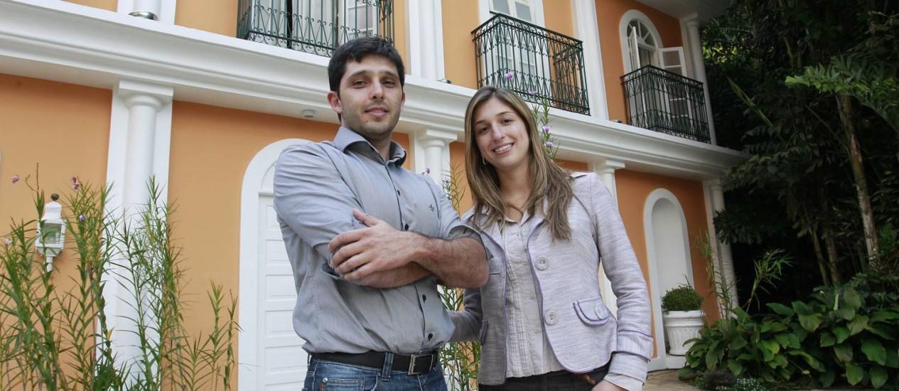 Donos. Os irmãos Guilherme Gomes e Nathália Keller, sócios de um tio no negócio Foto: Márcio Alves / Agência O Globo
