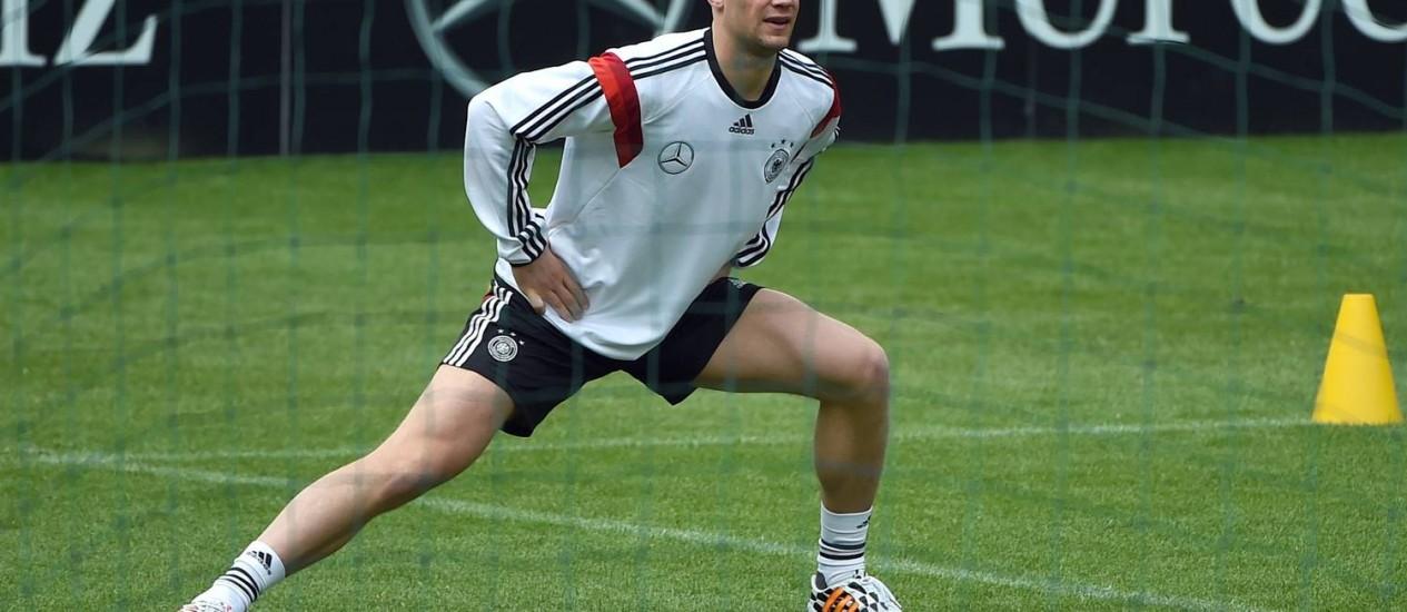 O goleiro Neuer será poupado no amistoso de domingo, contra Camarões Foto: Patrik Stollarz / AFP