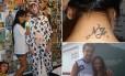 Gabriella (à esquerda), fã de Neymar, tatuou as iniciais do jogador no pescoço. Já Ravynni, realizou o sonho de tietar Fred