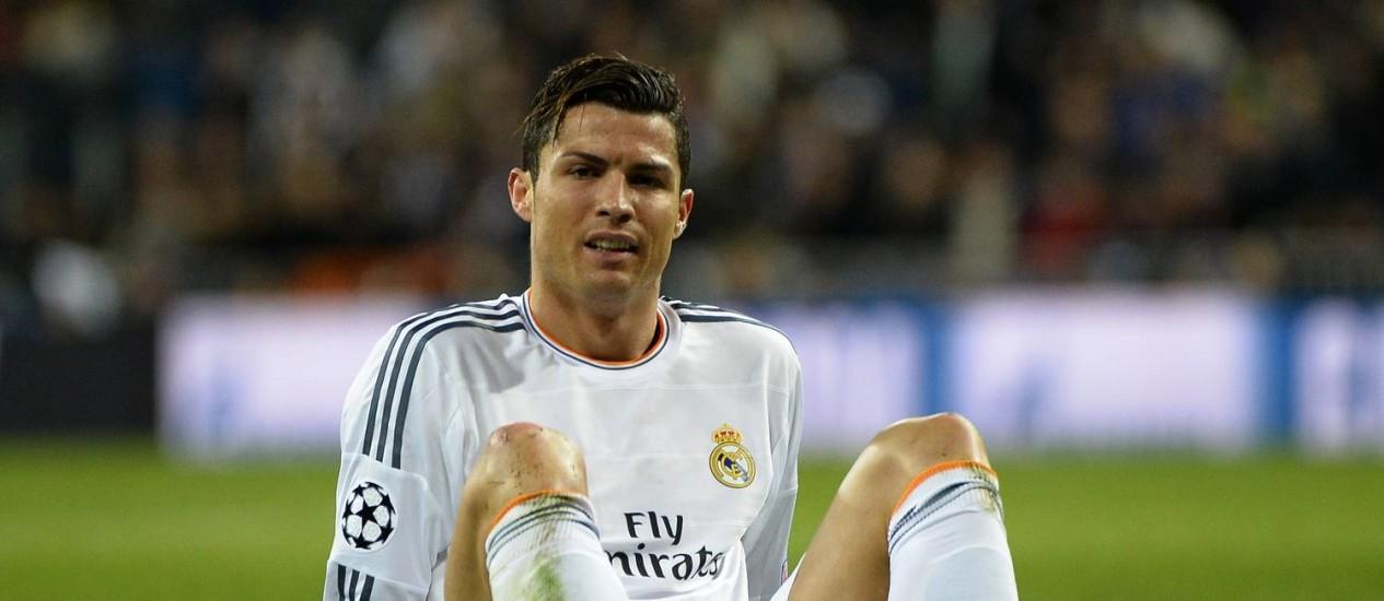 Cristiano Ronaldono jogo contra o Borussia Dortmund em abril Foto: Gerard Julien/AFP