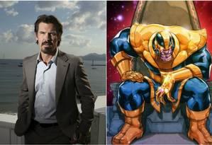 Josh Brolin vai interpretar o vilão Thanos, do universo Marvel Foto: Reprodução