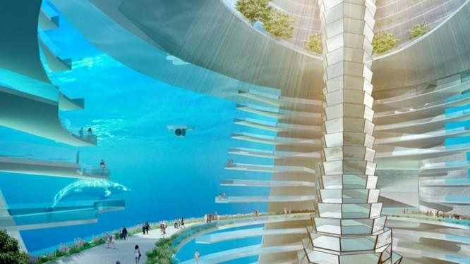 Para tentar resolver o problema de superlotação na China, empresa propõe a criação de uma cidade flutuante Foto: Reprodução