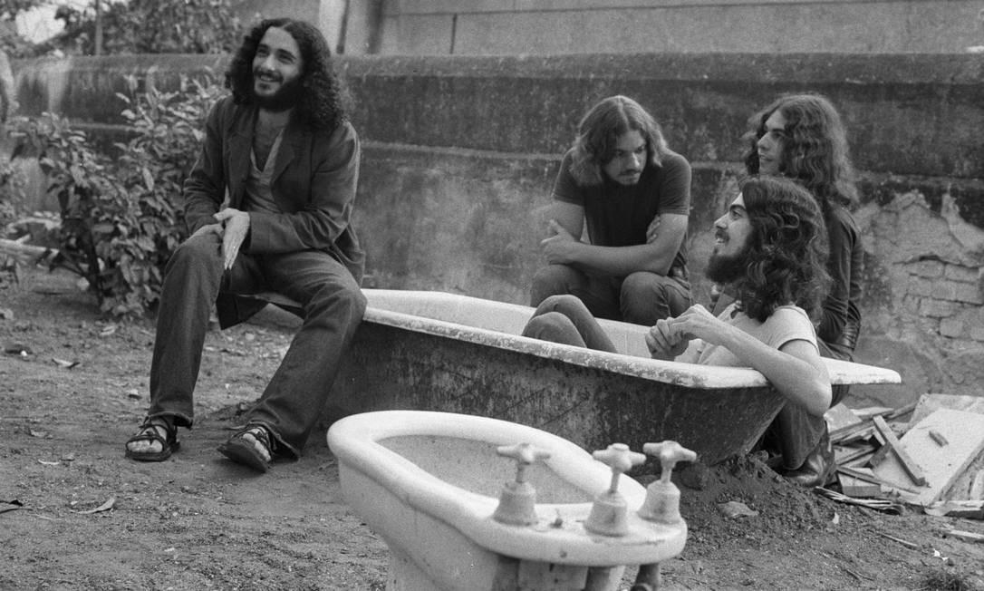"""Módulo 1000. O álbum que o grupo gravou em 1970, o psicodélico """"Não fale com paredes"""", foi rejeitado pela gravadora na época, mas tornou-se, posteriormente, objeto no culto no exterior Foto: Osmar Gallo"""