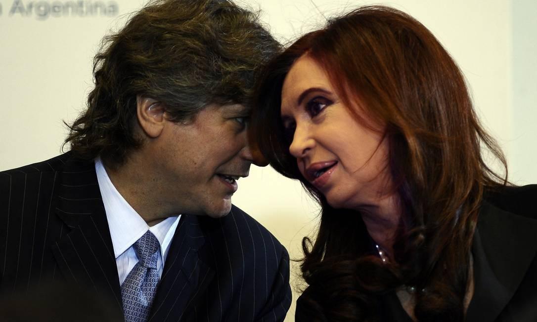 Boudou e Cristina. Livro de jornalista argentino explora misteriosa relação entre o vice-presidente e a líder do país Foto: ALEJANDRO PAGNI / AFP