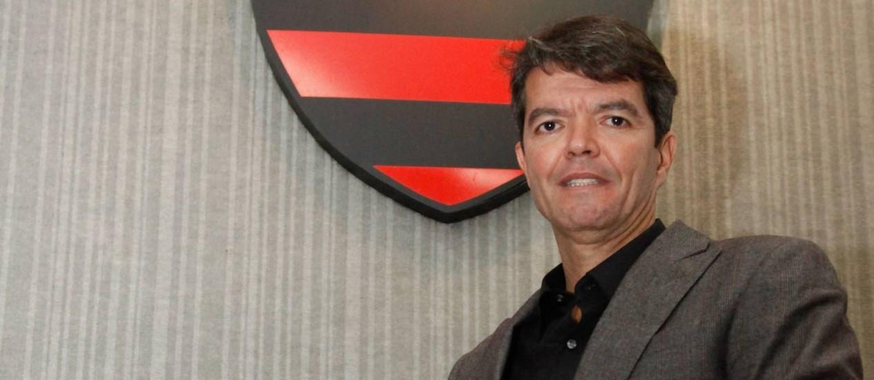 Felipe Ximenes no dia de sua apresentação como novo executivo do Flamengo Foto: Agência O Globo