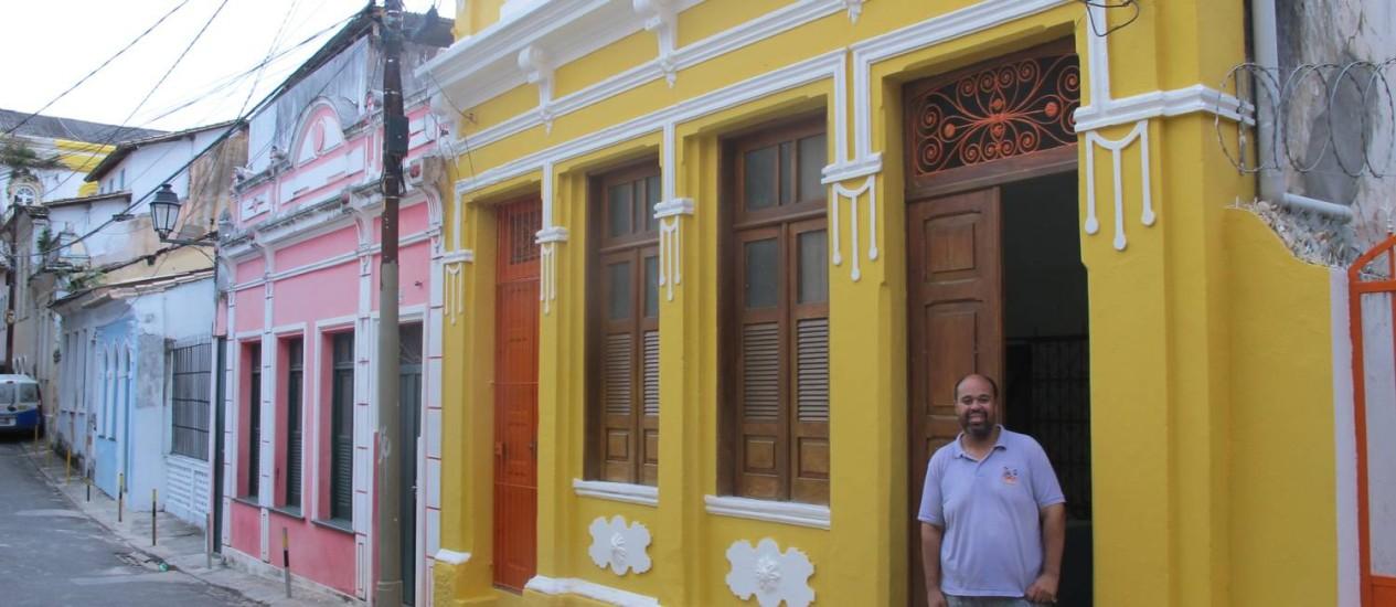 David no casarão amarelo do Hospeda Salvador Foto: MAÍRA AMORIM / MAÍRA AMORIM