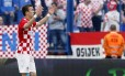 Croata Ivan Perisic comemora um dos gols da Croácia sobre Mali