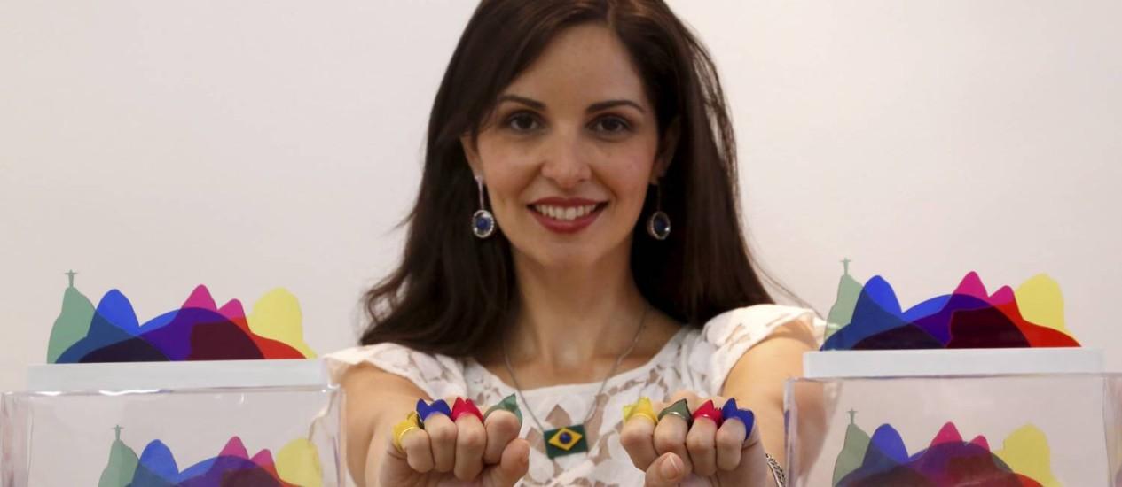 A designer de jóias Danielle Gandarillas Foto: Custódio Coimbra