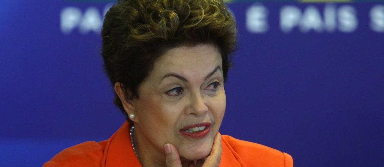 Dilma voltou a defender resultados das obras de infraestrutura para a Copa. Foto: André Coelho (28/05/2014) / Agência O Globo