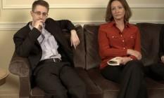 Em Moscou, Edward Snowden deu entrevista à repórter Sônia Bridi para o programa Fantástico Foto: Reprodução TV Globo