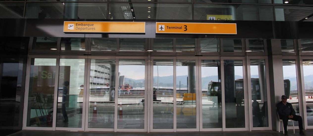 Fluxo. Terminal 3 de Guarulhos: juntos, Guarulhos, Viracopos e Congonhas movimentam em torno de 70 milhões de passageiros por ano Foto: Fernando Donasci/10-5-2014