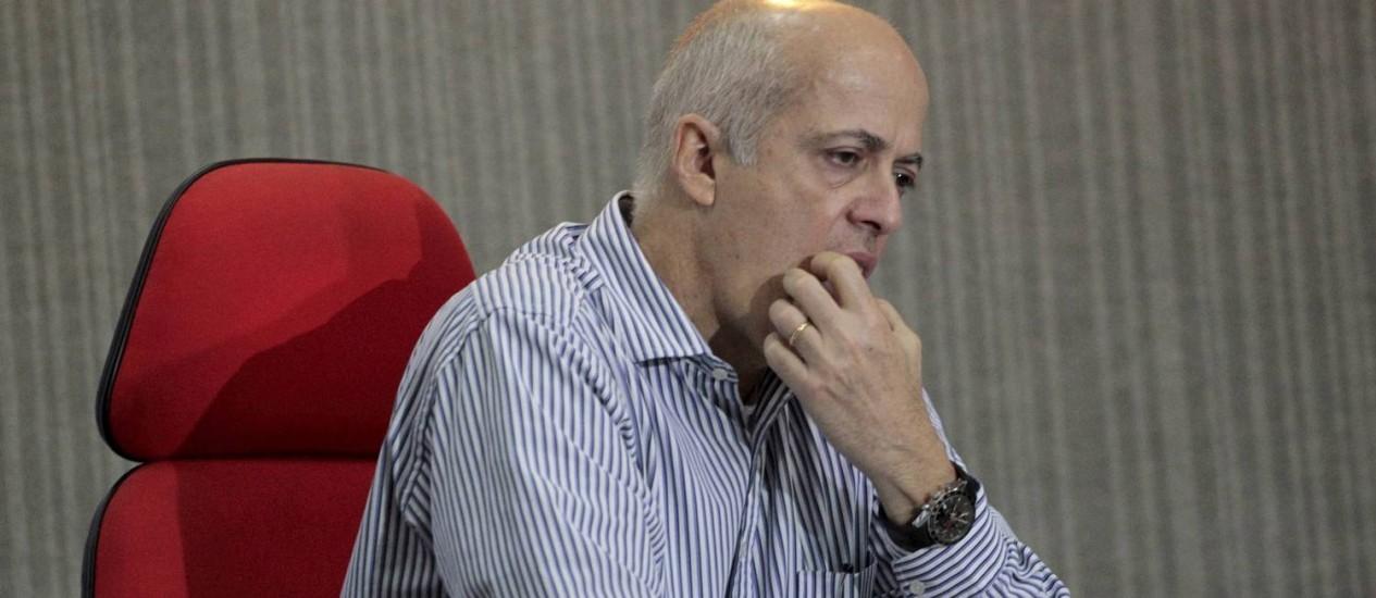 Wallim Vasconcellos concedeu coletiva nesta segunda-feira Foto: Marcelo Piu / Agência O Globo