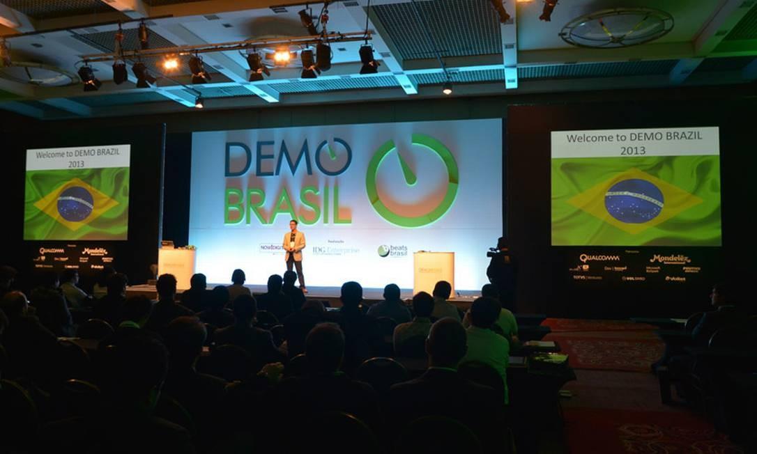 Foto da primeira Demo Brasil, em 2013: evento de empreendedorismo chega à sua segunda edição, no Rio Foto: / DIVULGAÇÃO