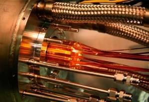 Parte da armadilha magnética usada pelos pesquisadores do experimento Alpha para capturar as partículas de antimatéria Foto: Divulgação/Cern