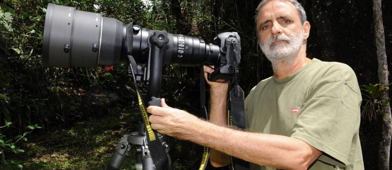 O fotógrafo Luiz Cláudio Marigo: vida dedicada à natureza Foto: Arquivo Pessoal