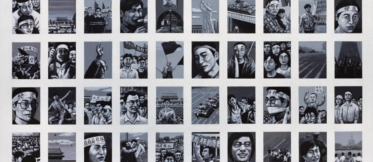 Quadro de Liu Yi pintado em segredo Foto: DIVULGAÇÃO