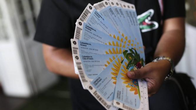 Ingressos para a Copa do Mundo Foto: RICARDO MORAES / REUTERS