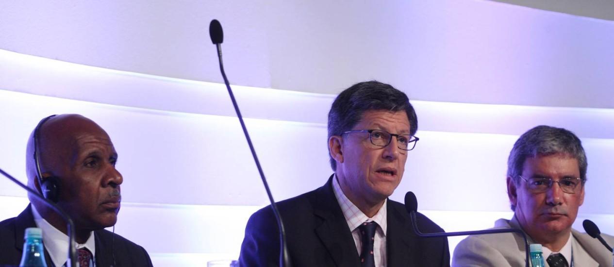 José Miguel Vivanco na Assembleia Geral da Sociedade Interamericana de Imprensa, em 2012 Foto: O Globo-13-10-2012