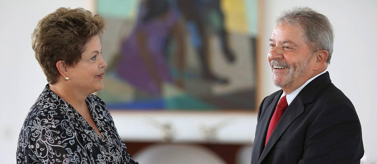 Dilma e Lula em Brasília: ex-presidente vai acompanhar a candidata à presidência durante o mês de junho Foto: Ricardo Stuckert/20-01-2014 / Agência O Globo