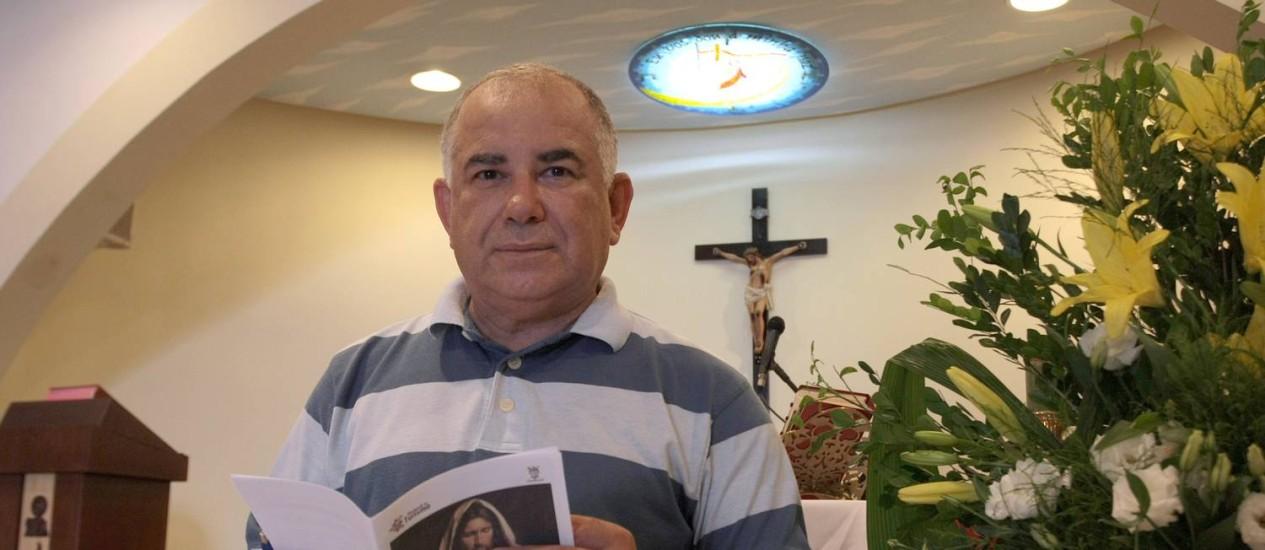 Coordenador da Pastoral do Turista, Frei Bené de Lima Filho, vai organizar missas em inglês e espanhol para turistas Foto: Hans von Manteuffel / O Globo
