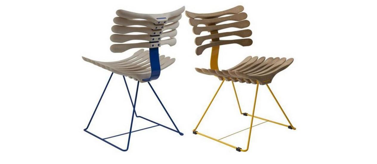 Cadeiras em formato de costela humana Foto: Divulgação