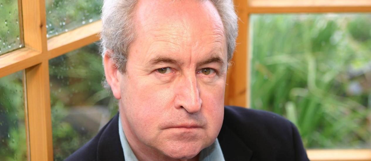 O escritor irlandês John Banville. Foto: Douglas Banville / Agência O Globo