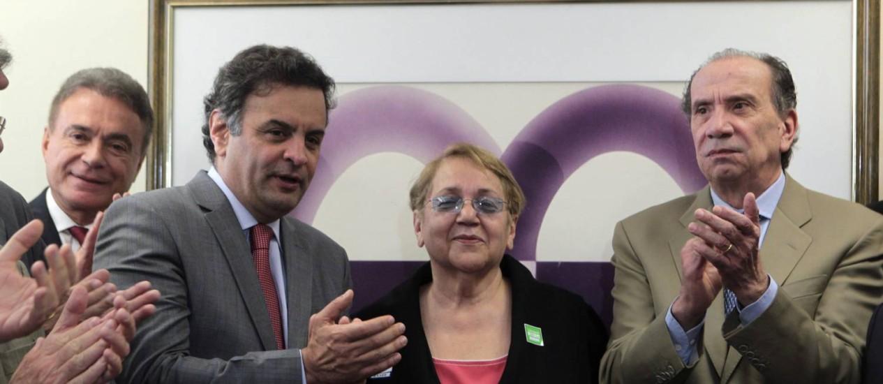 PMN, PTdoB, PTC e PTN anunciaram apoio a Aécio Neves Foto: Givaldo Barbosa / Agência O Globo